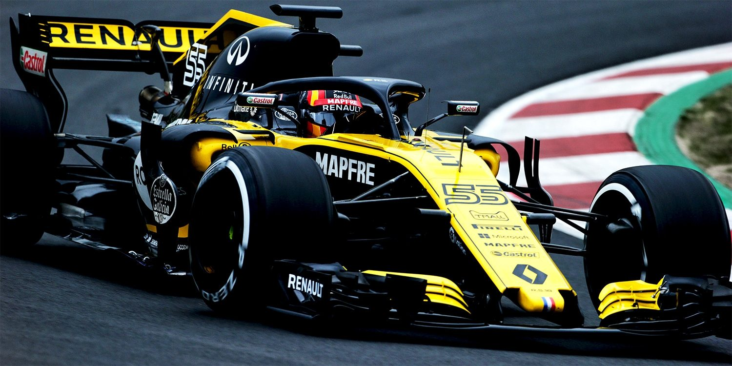 INFINITI and Renault Sport Formula 1 Driver Carlos Sainz on Track